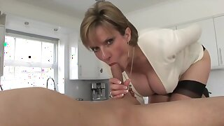 Naughty grown-up stepmom having a unlimited crest with their way stepson
